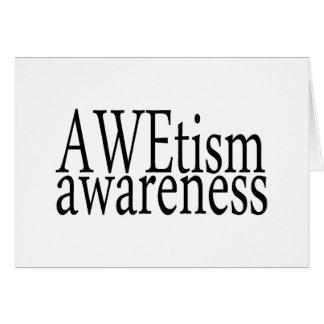 AWEtism Awareness Card