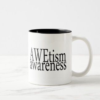 AWEtism Awareness Two-Tone Coffee Mug
