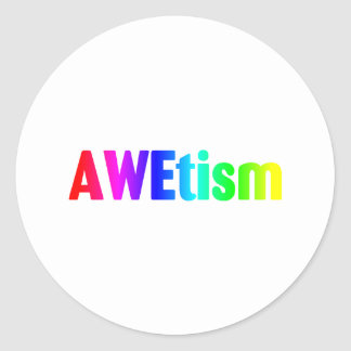 AWEtism Classic Round Sticker