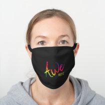 Awetistic Pride Female Autism Awareness Spectrum Black Cotton Face Mask