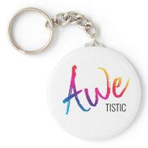 Awetistic Pride Female Autism Awareness Spectrum Keychain