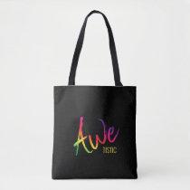 Awetistic Pride Female Autism Awareness Spectrum Tote Bag