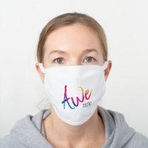 Awetistic Pride Female Autism Awareness Spectrum White Cotton Face Mask