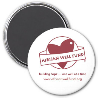 AWF-logo-color, www.africanwellfund.org 3 Inch Round Magnet