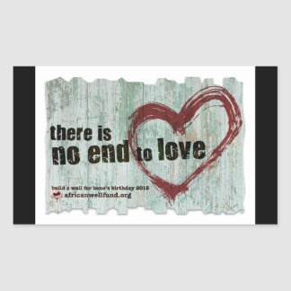 "AWF ""There is no end to love"" Stickers"