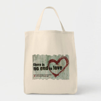 "AWF ""There is no end to love"" Tote Bag"