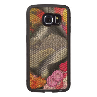 Awful colorful tiles wood phone case