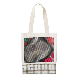 Awful colorful tiles zazzle HEART tote bag