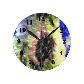 Awful strange pattern round clock