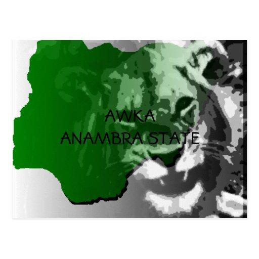Awka, productos modificados para requisitos tarjetas postales
