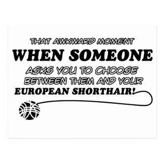 Awkward european shorthair designs postcard