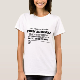Awkward exotic shorthair designs T-Shirt