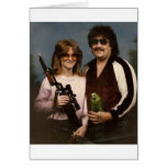 Awkward Family Photos - Couple with parrot! Greeting Cards