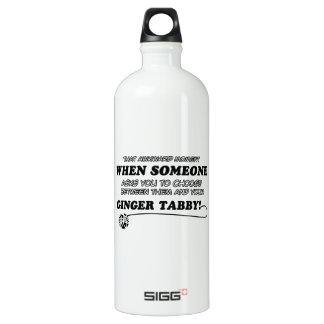 Awkward ginger tabby designs water bottle