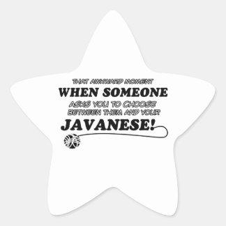 Awkward javanese designs star sticker