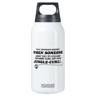 Awkward jungle curl designs insulated water bottle