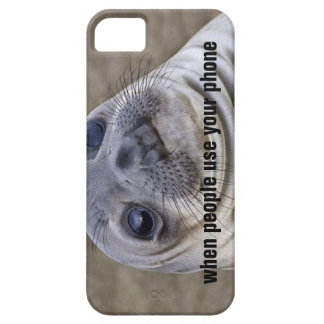 Awkward moment seal - When people use your phone iPhone SE/5/5s Case