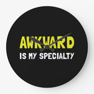 Awkward Specialty Large Clock