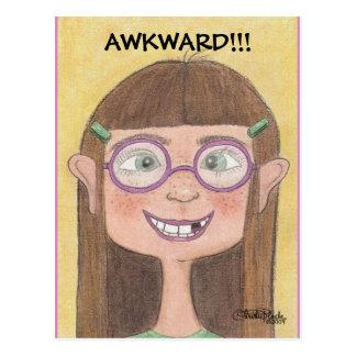 Awkward Stage Girl Postcard