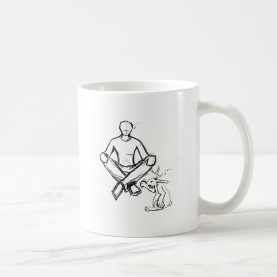 Awkward stare coffee mug