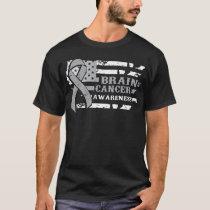 Awkward Style USA Flag Brain Cancer Awareness T-Shirt