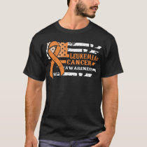 Awkward Style USA Flag Leukemia Cancer Awareness T-Shirt