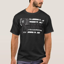 Awkward Style USA Flag Skin Cancer Awareness T-Shirt