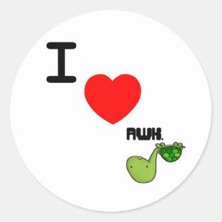 awkward turtle love sticker