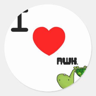 awkward turtle love stickers