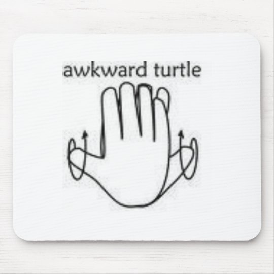 awkward turtle mouse pad