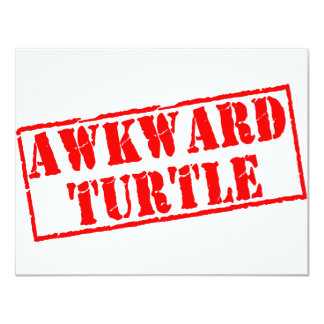Awkward Turtle Stamp Card