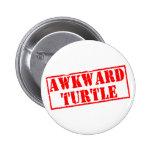 Awkward Turtle Stamp Pinback Buttons