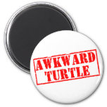 Awkward Turtle Stamp Refrigerator Magnets