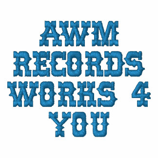 AWM RECORDS WORKS 4 YOU EMBROIDERED HOODY