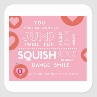 AWN Valentine Square Sticker