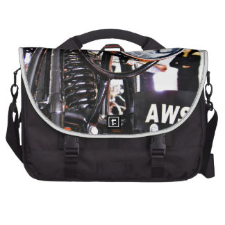 AWS 5. Vintage motorcycle front view Laptop Computer Bag