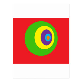 Awsome circles postcard