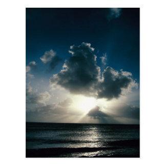 Awsome coastline-cloudburst on a post card