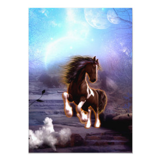 Awsome horse in the night card