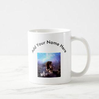 Awsome horse in the night coffee mug
