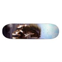 Awsome horse in the night skateboard