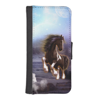 Awsome horse in the night wallet phone case for iPhone SE/5/5s