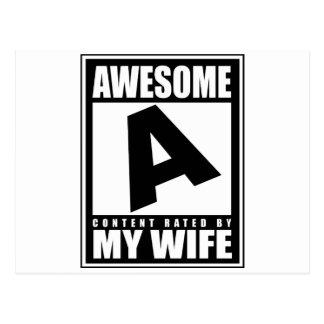 Awsome Husband Postcard