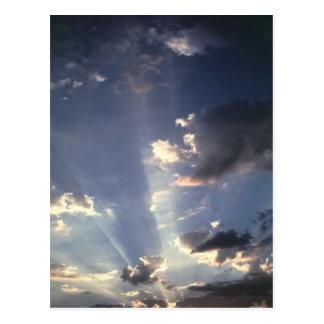 Awsome light through  the clouds, post card