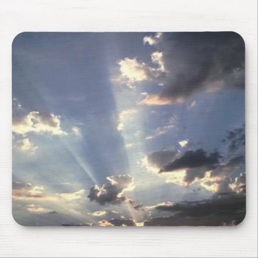Awsome sunlight, in the clouds, mousepad