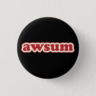 Awsum Lolcat Speak Flair Pinback Button