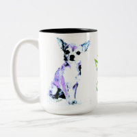 Aww Chiwawa Two- Tone Mug 2