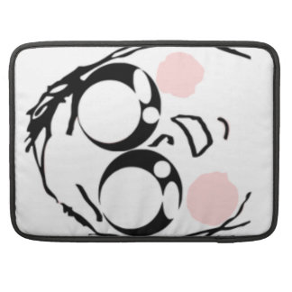 Aww Cute comic face Sleeves For MacBooks