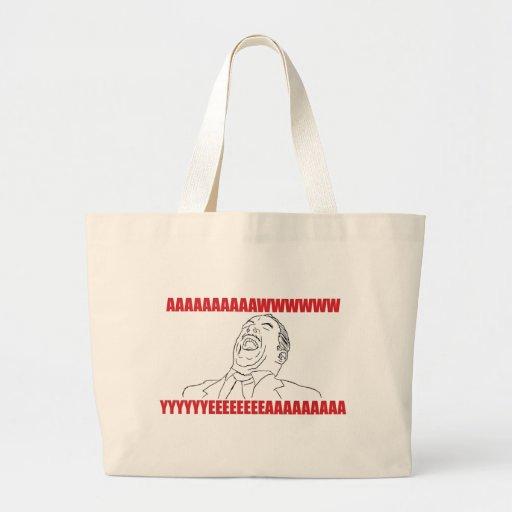 Aww Yea Jumbo Tote Bag