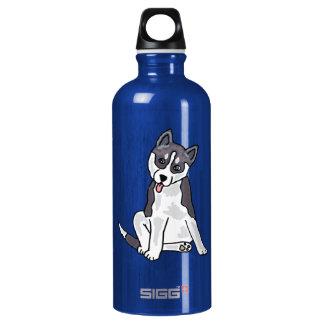 AX- Awesome Siberian Husky Aluminum Water Bottle